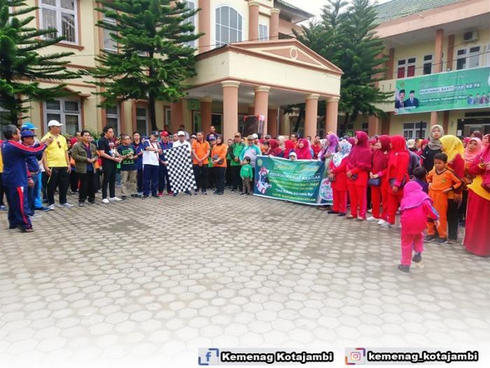 Jalan Santai Kerukunan Dalam Rangka HAB Ke 74 Kementerian Agama